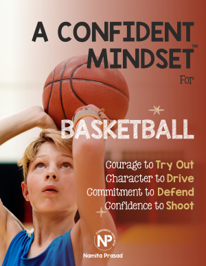 motivational poster for A confident basketball player