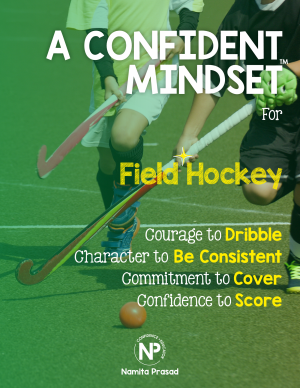 motivational poster for A confident Hockey player