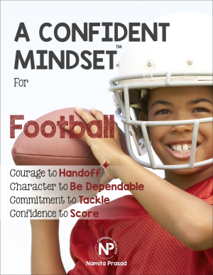motivational poster for A confident football player