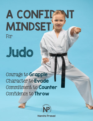 motivational poster for A confident judo player