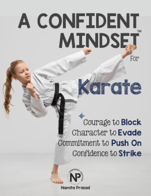 motivational poster for A confident karate player