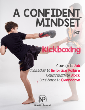 motivational poster for A confident kickboxing player