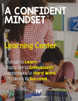 motivational poster for A confident learner