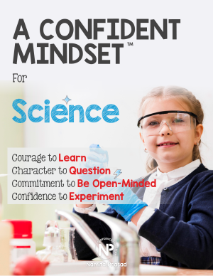 motivational poster for A confident science student