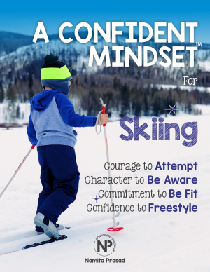 motivational poster for A confident skier