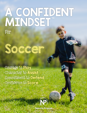 motivational poster for A confident soccer player