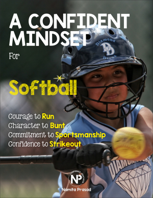 motivational poster for A confident softball player