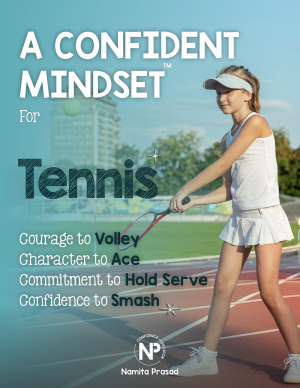 motivational poster for A confident tennis player