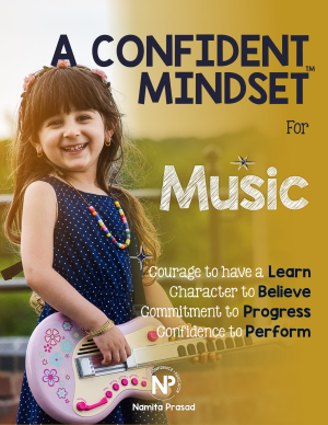 motivational poster for A confident musician