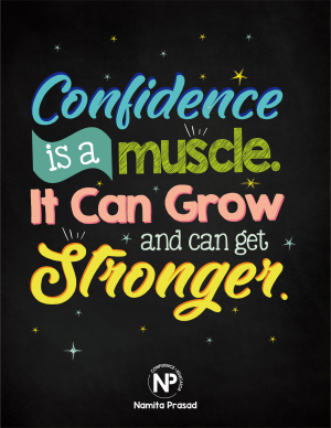 motivational poster for how children can develop confidence